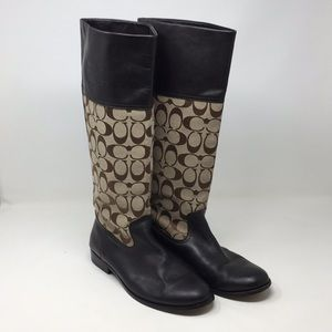 Coach Brown Signature Boots 7.5